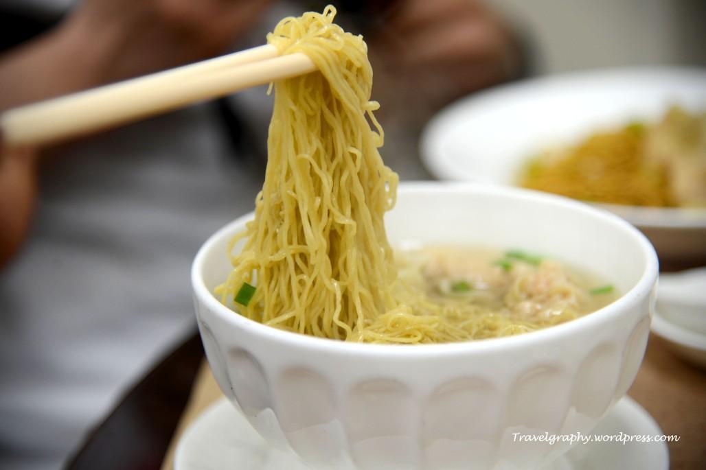 The famous Wong Chi Kei wanton noodles 有名的黄枝记云吞面